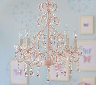 Pink Lydia Chandelier | Kids chandelier, Girls chandelier, Nursery .