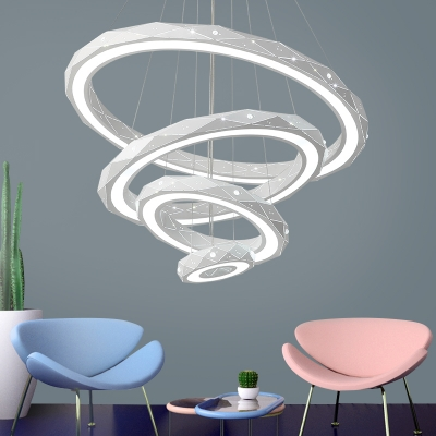 Best Modern Chandeliers for Kids Room Tiered 9/30/63/110W White .