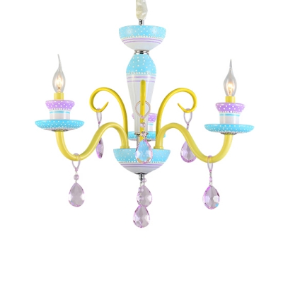 Kid Chandelier Small Candle Chandelier Indoor LED Chandelier with .