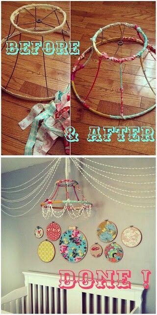 13 Crazy Cool DIY Chandeliers | Diy baby stuff, Diy chandelier, Craf