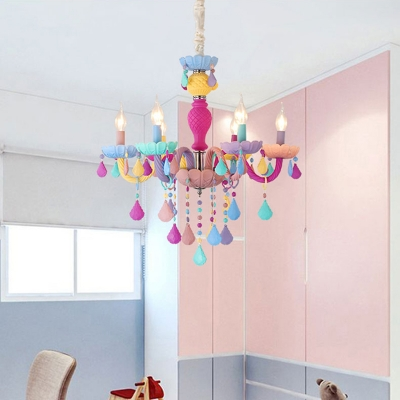 Modern Chandelier Lighting Crystal Ceiling Light Candle Small .