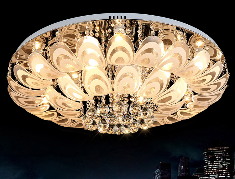 low ceiling flower small red light crystal chandelier, View small .