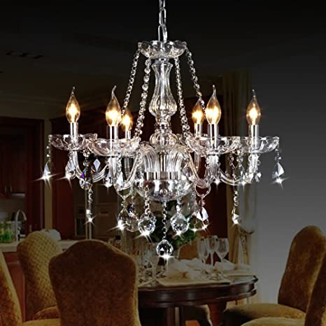 Amazon.com: CRYSTOP Classic Vintage Crystal Candle Chandeliers .
