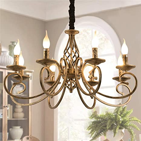 Ganeed Rustic Chandeliers, 8 Lights Candle French Country .