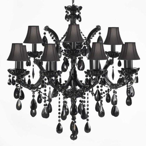 Jet Black Chandelier Crystal Lighting Chandeliers With Black .