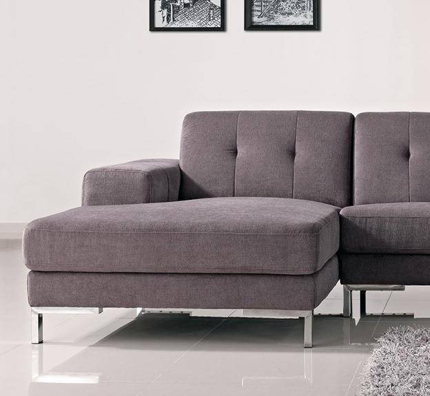 Soflex Charlotte Modern Fabric Tufted Sectional Sofa Left Facing .