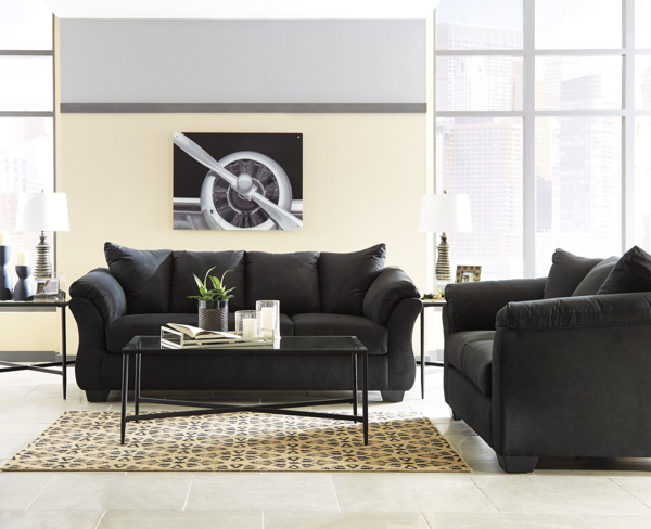 Darcy Black 2-Piece Living Room S