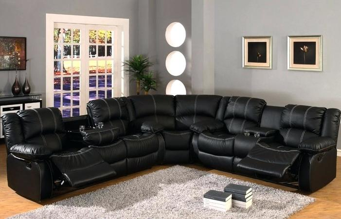 Cheap Black Couch Lovely Leather Sectional Living Room Ideas .