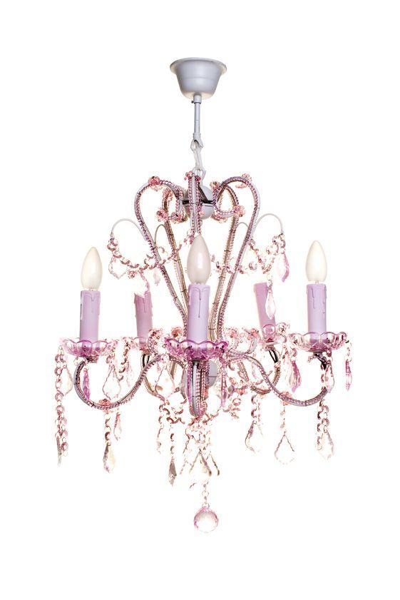 Pink Chandelier | Pink chandelier, Baby girl room, Pink gi