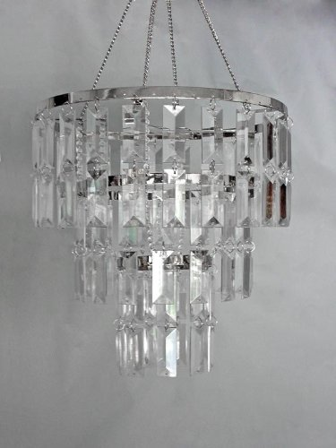 "10.5"" wide 3 Tiered Faux Crystal Chandelier - Buy Online in Bosnia ."