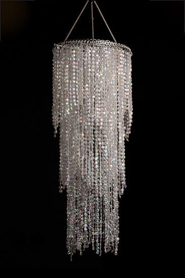 Simply Elegant Faux Crystal Decorative Chandelier - Mirrors .