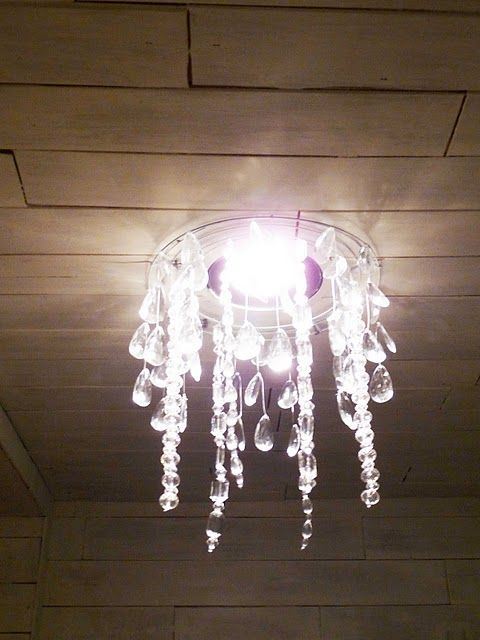The Happy Homebodies: Tutorial: DIY Faux Crystal Chandelier | Diy .