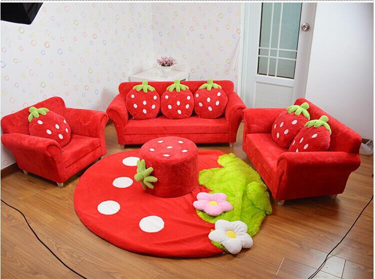 2020 Coral Velvet Children Sofa Chairs Cushion Furniture Set Cute .