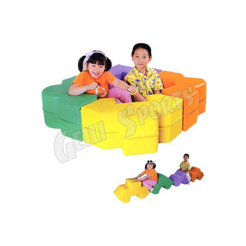 Multifunction Combination Colorful Indoor Mini Kids Sectional .
