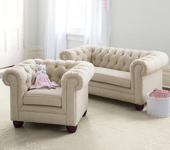 Chesterfield Mini Sofa | Pottery Barn Kids I NEED THESE! | Mini .