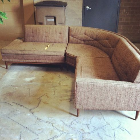 The Reupholstered Sectional Sofa | Furniture, Blue chairs living .