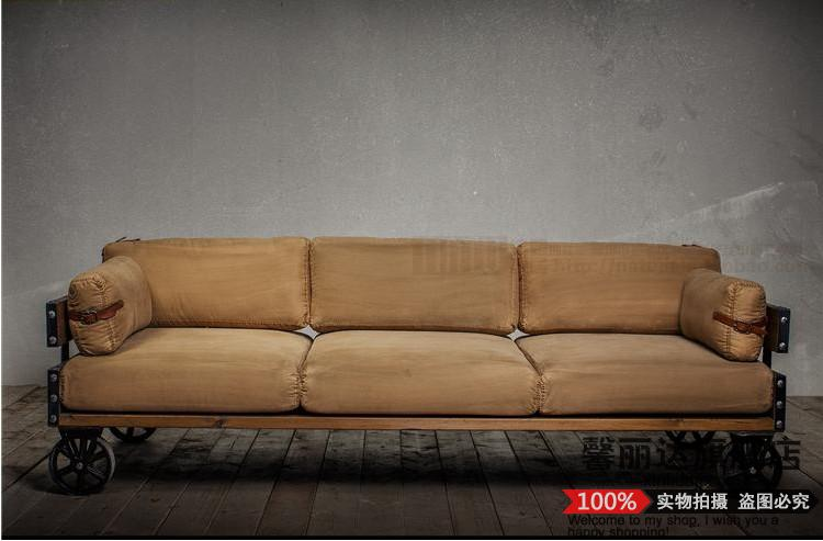 Buy Hope rita american country wood simple living room sofa retro .
