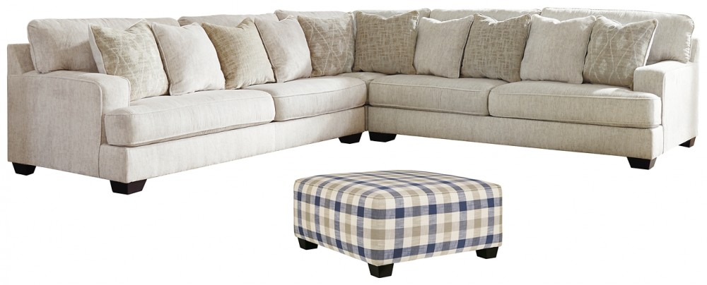 Rawcliffe - 3-Piece Sectional with Ottoman | Living Room Groups .
