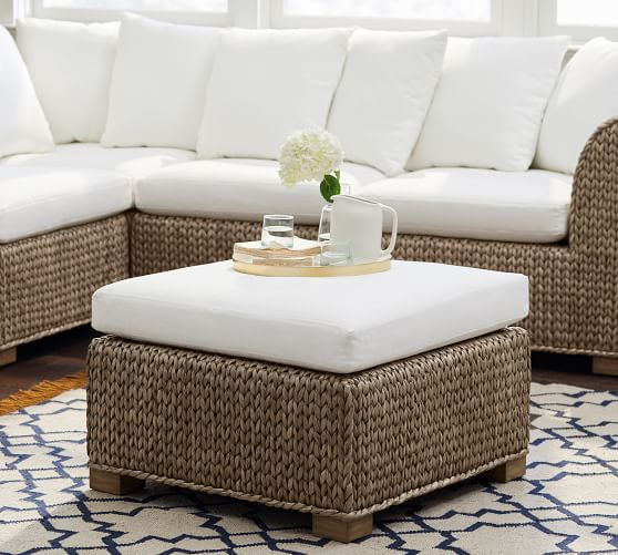 Seagrass Sectional Ottoman | Pottery Ba