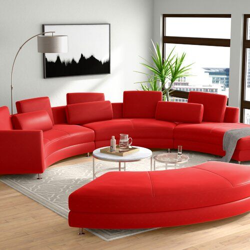 Buy Manatuto Leather Right Hand Facing Modular Sectional Ottoman .