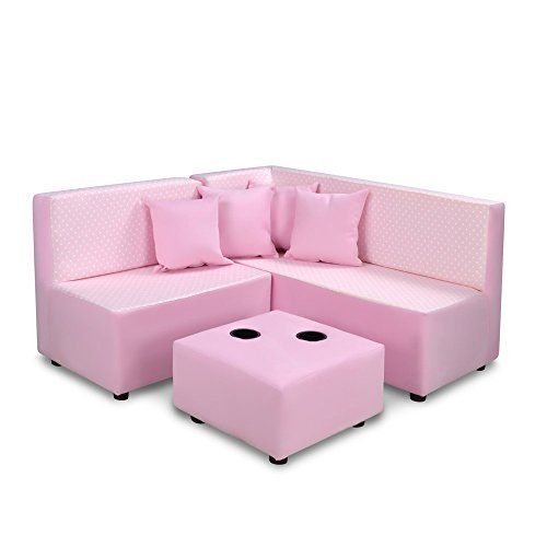 Kangaroo Trading Kids Sectional Mini Dot Bella with Bubblegum .