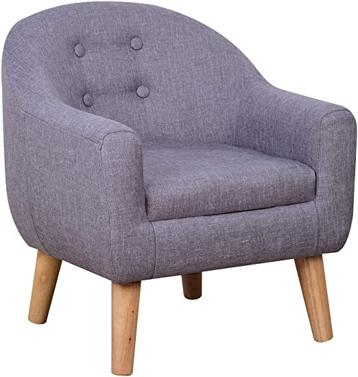 Amazon.com: Single Linen Fabric Kids Armchair, Toddler Sofa and .