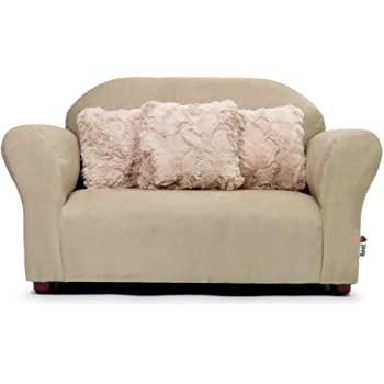 Amazon.com : Keet Plush Childrens Sofa with Accent Pillows, Khaki .