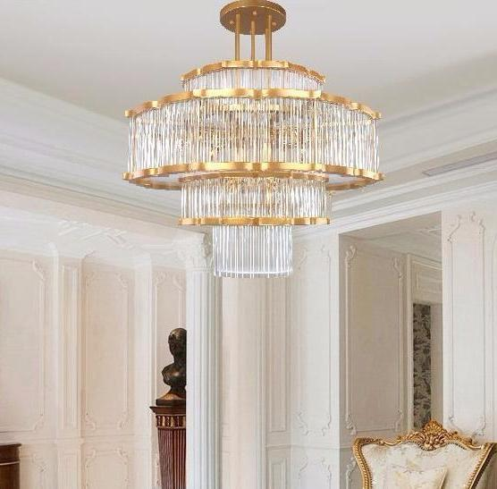 Buy Chinese Crystal Chandelier - Multi-Layer Crystal & Gold .