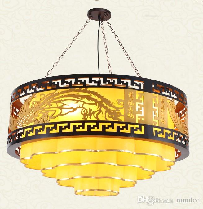 LLFA Free Of Freight Modern Chinese Chandelier Solid Wood Living .