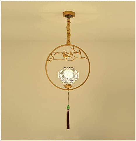 New Chinese Chandelier Ceramic Single Head Retro Porch Corridor .