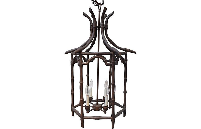 Faux-Bamboo Chinoiserie Chandelier | Faux bamboo, Chandelier .