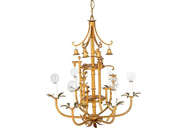 Gold Pagoda Chandelier | Chinoiserie decorating, Vintage .