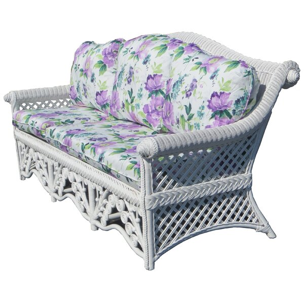 August Grove® Mathys Traditional Floral Wicker Sofa | Wayfa