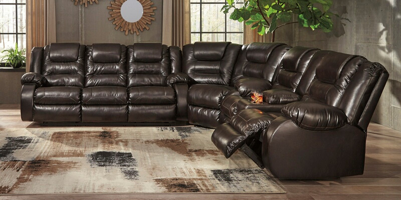 Ashley Furniture 79307-88-77-94 3 pc Vacherie chocolate faux .