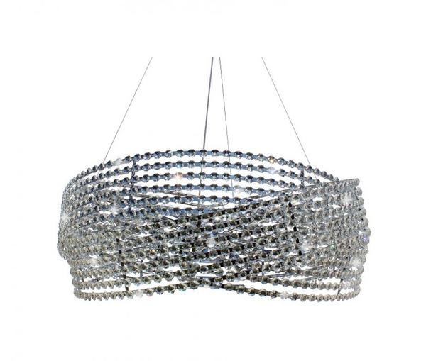 Diamante 3 Ring Chrome Crystal Chandelier - Light Up My Ho