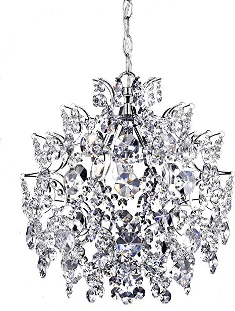 Elegant Indoor 3-Light Chrome/Crystal Chandelier - - Amazon.c