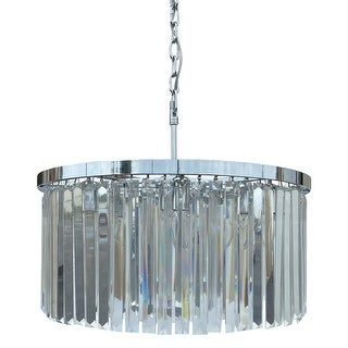 Shop DAngelo 8 Light Round Clear Glass Chandelier, Chrome, Small .