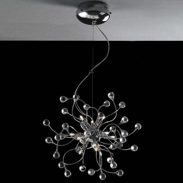 "Brizzo Lighting Stores. 18"" Sfera Modern Crystal Round Chandelier ."