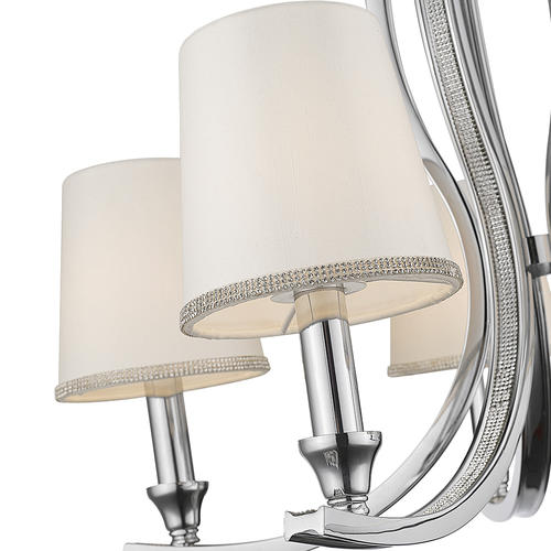 Patriot Lighting® Elegant Home Diana Chrome Chandelier at Menards