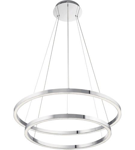 Elan 83866 Opus LED 36 inch Chrome Chandelier Ceiling Light .