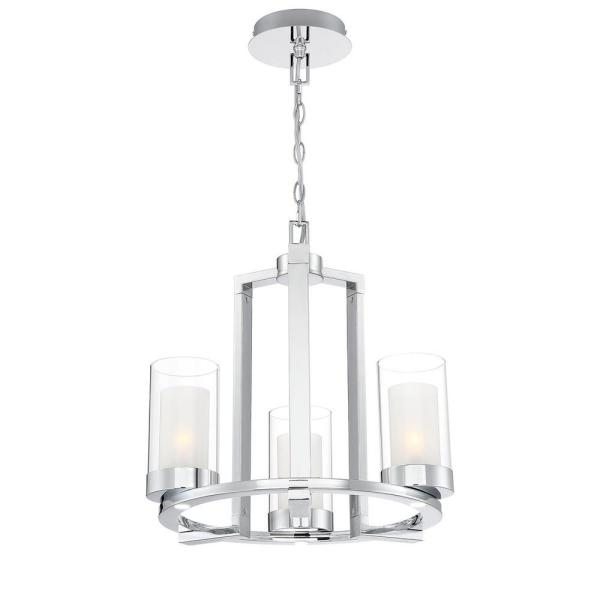 Home Decorators Collection Samantha 33-Watt 3-Light LED Chrome .