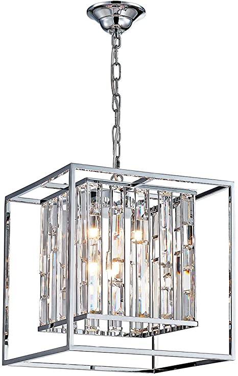 ANJIADENGSHI Square Modern Crystal Chandelier 5 G9 Bulbs .