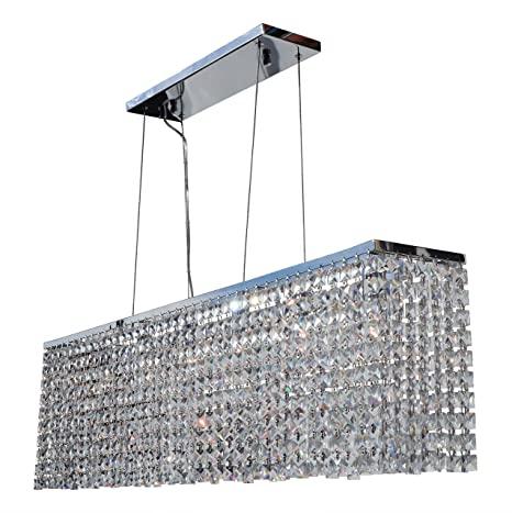 Rectangular Chrome Crystal Chandelier Lighting Pendant - - Amazon.c