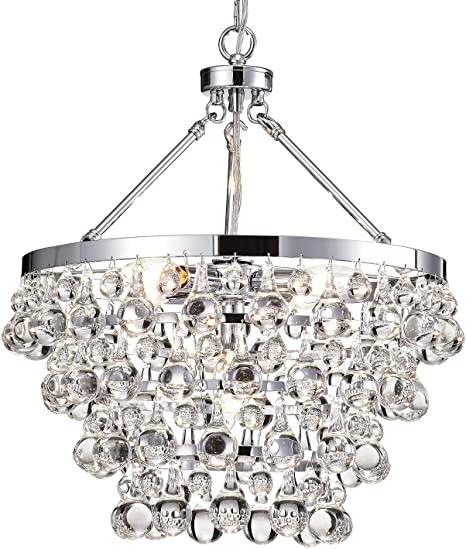 Edvivi Clarus 5-Light 4 Tier Chrome Crystal Chandelier Ceiling .