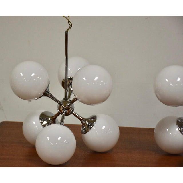 Lightolier Chrome Sputnik Chandeliers - Set of 3 | Chairi