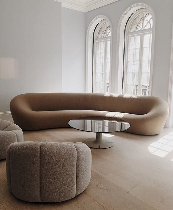 Cue The Curves! All About The Curvy Sofa & Furniture Trend — The .