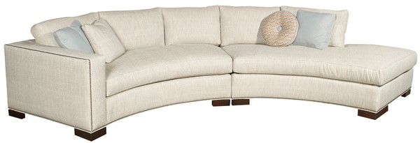 Bennett Arm Curved Sofa W180-LAJ - Our Products - Vanguard Furnitu