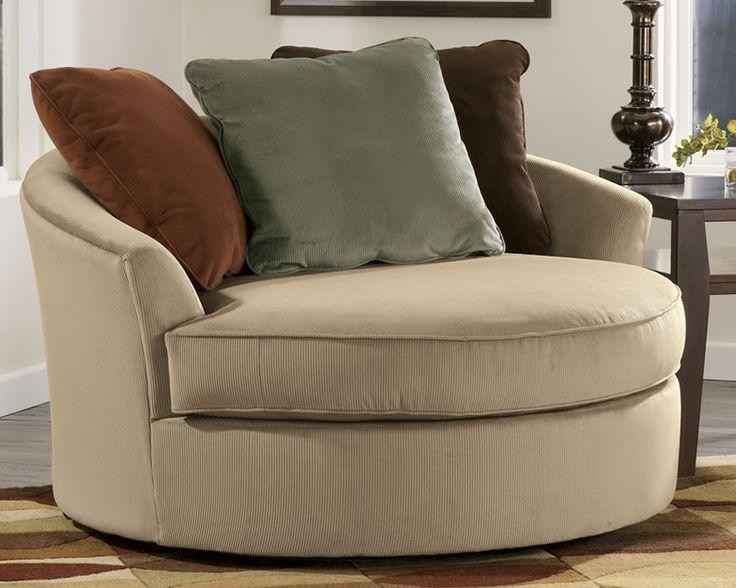 Small Circle Sofa Applied For Modern Tiny Room: Round Single Sofa .