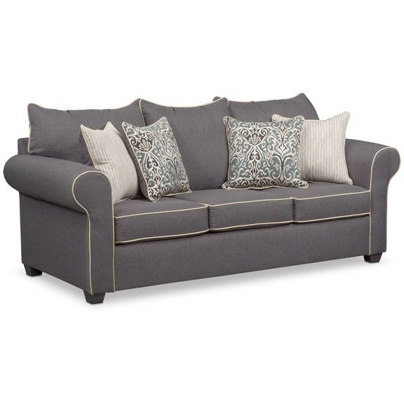 Carla Sofa - Gray | Value City Furniture | Furniture, Value city .