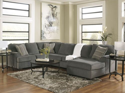 Loric Smoke LAF Sofa, Armless Loveseat, RAF Corner Chaise .